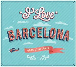 Vintage Greeting Card From Barcelona - Spain by MiloArt