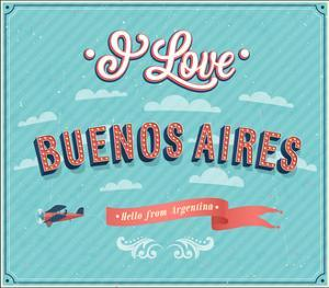 Vintage Greeting Card From Buenos Aires - Argentina by MiloArt
