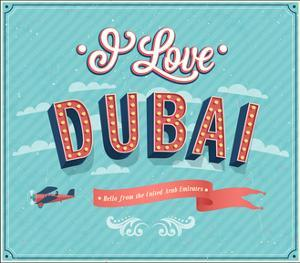 Vintage Greeting Card From Dubai - United Arab Emirates by MiloArt