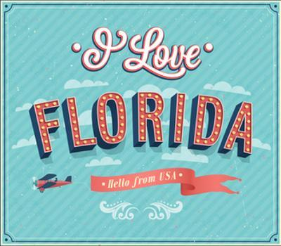 Vintage Greeting Card From Florida - Usa by MiloArt