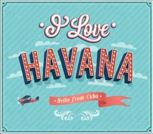 Vintage Greeting Card From Havana - Cuba by MiloArt