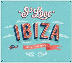 Vintage Greeting Card From Ibiza - Spain by MiloArt