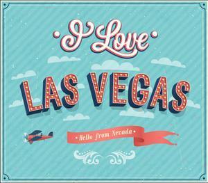 Vintage Greeting Card From Las Vegas - Nevada by MiloArt
