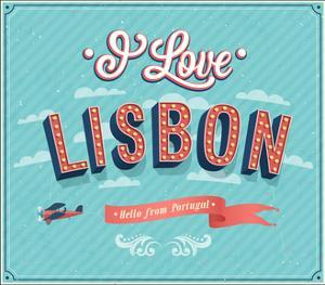 Vintage Greeting Card From Lisbon - Portugal by MiloArt