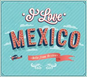 Vintage Greeting Card From Mexico - Mexico by MiloArt