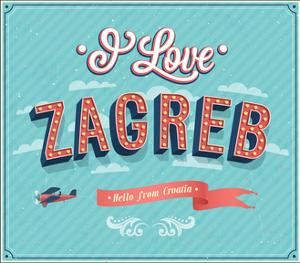 Vintage Greeting Card From Zagreb - Croatia by MiloArt