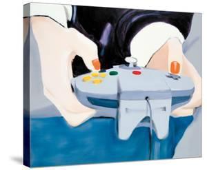 Point of View (Mai with Nintendo controller) by Miltos Manetas