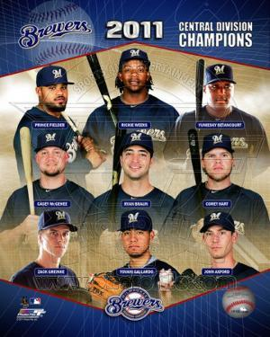 Milwaukee Brewers 2011 NL Central Division Champions composite