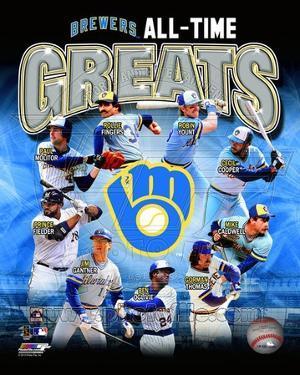 Milwaukee Brewers - Yount, Molitor, Fielder, Cooper, Fingers, Oglivie, Caldwell, Gantner, Thomas Ph