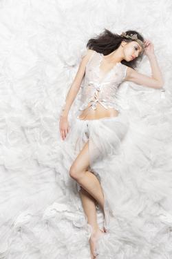 Beautiful Sleeping Princess Bride by mimagephotography