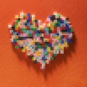 Colorful Pixelated Heart by Mimi Haddon