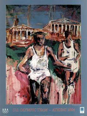 U.S. Olympic Team Athens 2004 Runners by Mina Papatheodorou-Valyraki