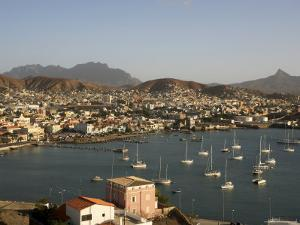 Mindelo City and Harbour, Sao Vicente, Cape Verde Islands, Atlantic, Africa by G Richardson