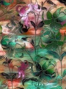 Aqua Sky Lillies by Mindy Sommers
