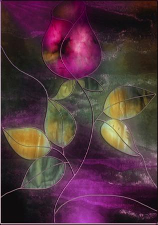 Stained Glass Rose by Mindy Sommers