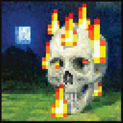 Minecraft Burning Skull Premium Video Game Poster