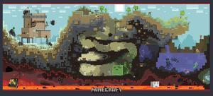Minecraft Cross-Section Video Game Premium Poster