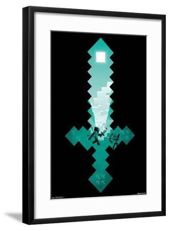 Minecraft - Diamond Sword--Framed Poster