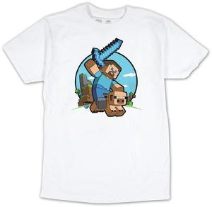 Minecraft t shirts posters at allposters minecraft pig riding urtaz Image collections