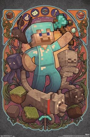 minecraft posters prints paintings