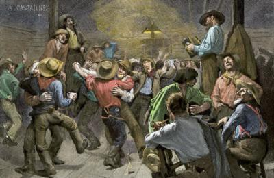 Miners' Ball during the California Gold Rush