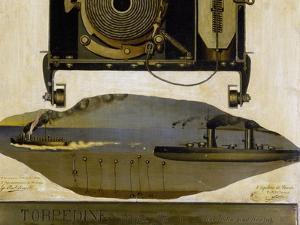 Minesweeper Anchored to Seabed, 1924, Italy, 20th Century