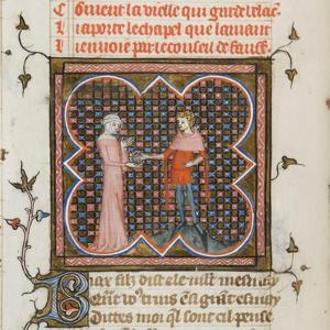 Miniature from a Manuscript of the Roman De La Rose by Guillaume De Lorris and Jean De Meun, 1353