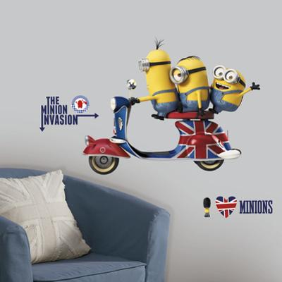 Minions The Movie Peel and Stick Giant Wall Decals