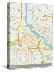 Maps Of Minneapolis Mn Canvas At Allposterscom - Minneapolis-on-us-map