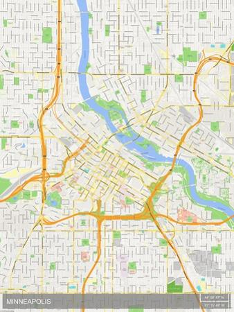 Minneapolis, United States of America Map