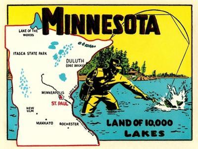 Minnesota, Land of 10,000 Lakes