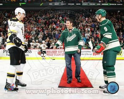 Minnesota Twins, Minnesota Wild, Boston Bruins - Joe Mauer, Mikko Koivu, Blake Wheeler Photo