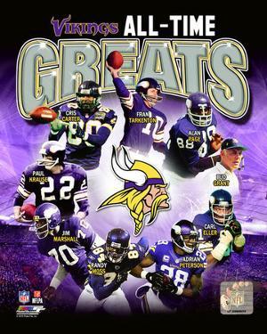 Minnesota Vikings All-Time Greats Composite