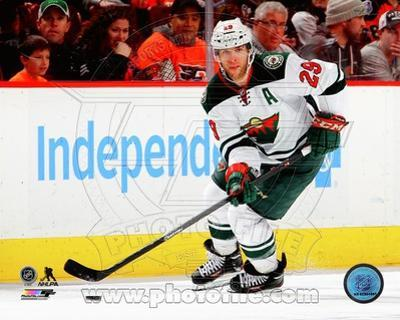 Minnesota Wild Jason Pominville 2013-14 Action