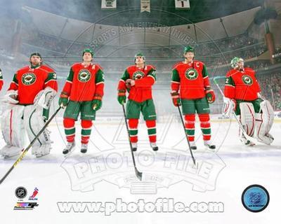 Minnesota Wild - Ryan Suter, Niklas Backstrom, Zach Parise, Mikko Koivu, Josh Harding Photo