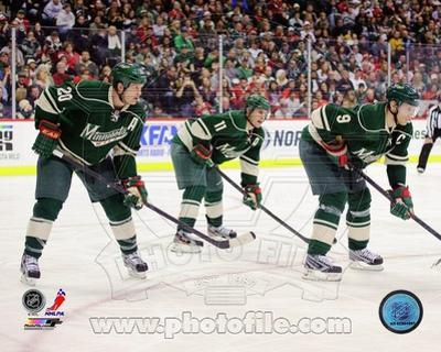 Minnesota Wild - Ryan Suter, Zach Parise, Mikko Koivu Photo