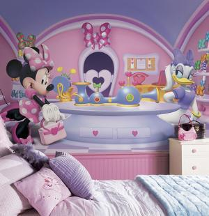 Minnie Fashionista Chair Rail Prepasted Mural