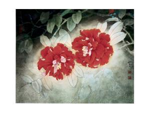 Red Camellias by Minrong Wu