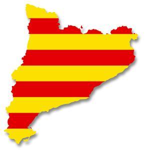 Map and Flag of Catalonia by MIPImages