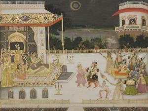Queen Udham Bai Entertained, 1742 by Mir Miran