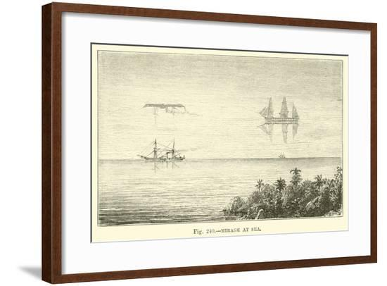 Mirage at Sea--Framed Giclee Print