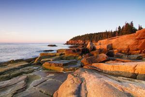 Marine Landscape in Acadia, Park Loop Road, Acadia National Park, Maine by Mircea Costina