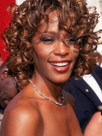 Entertainer Whitney Houston at 50th Annual Grammy Awards