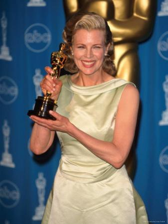 Kim Basinger Holding Her Oscar in Press Room at Academy Awards by Mirek Towski