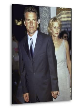"""Married Actors Dennis Quaid and Meg Ryan at Film Premiere of His """"The Parent Trap"""" by Mirek Towski"""