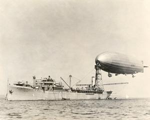 USS Shenandoah Airship And Tender by Miriam and Ira Wallach