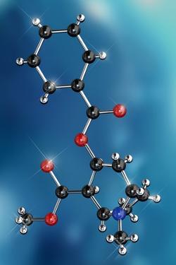 Cocaine Drug Molecule by Miriam Maslo