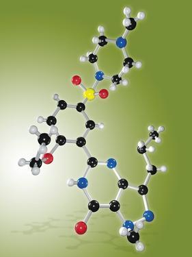Viagra Drug Molecule by Miriam Maslo
