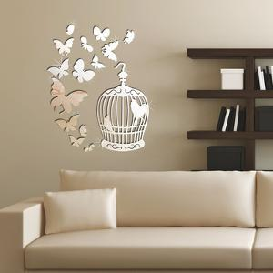 Mirror Butterflies and Birdcage Mirror Wall Art