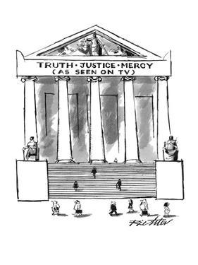 'Truth•Justice•Mercy - New Yorker Cartoon by Mischa Richter
